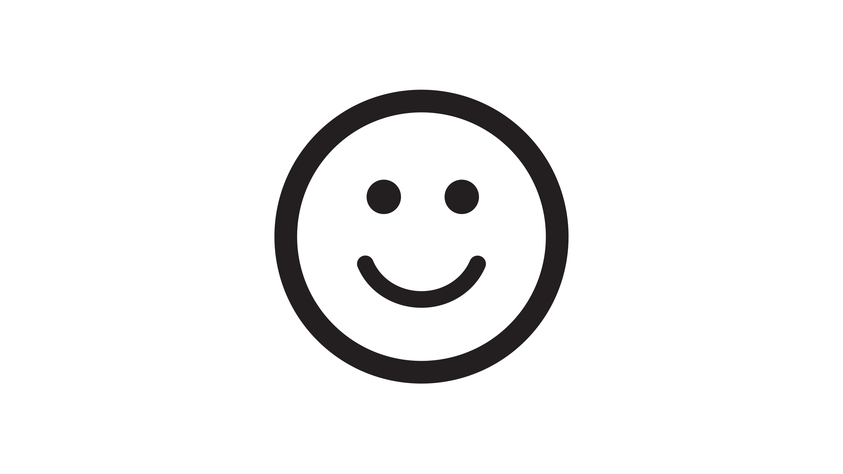 Happy smiley face to create sense of patient comfort