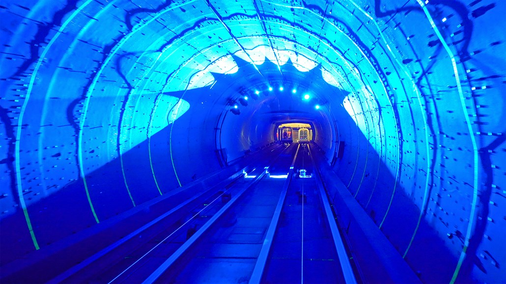 Looking down a UV tunnel